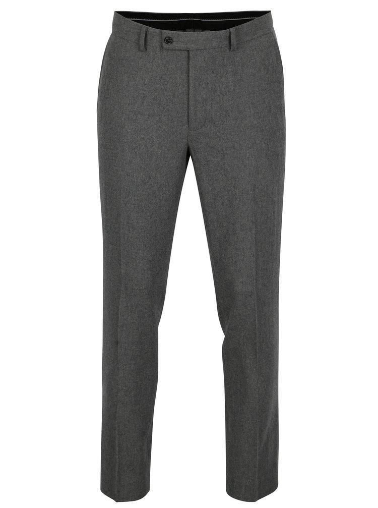 Pantaloni skinny fit gri inchis din amestec de lana -  Burton Menswear London