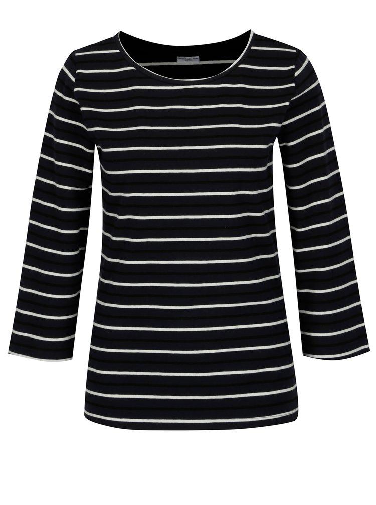 Krémovo-modré pruhované basic tričko Jacqueline de Yong Charm