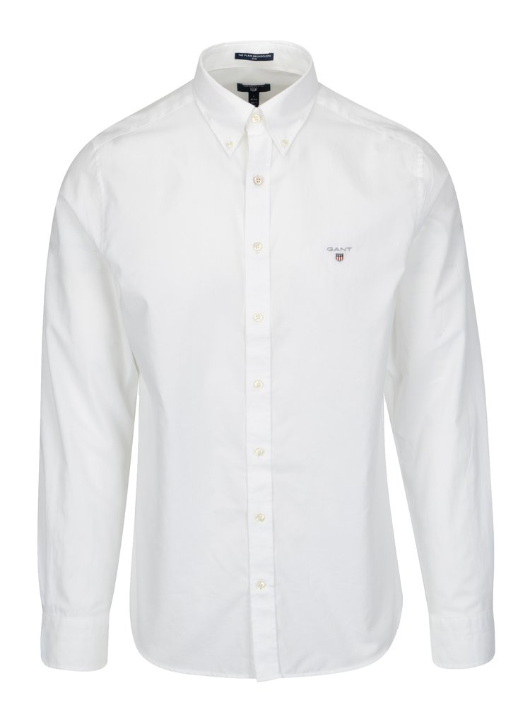 ce743303b5 ... Biela pánska slim košeľa GANT