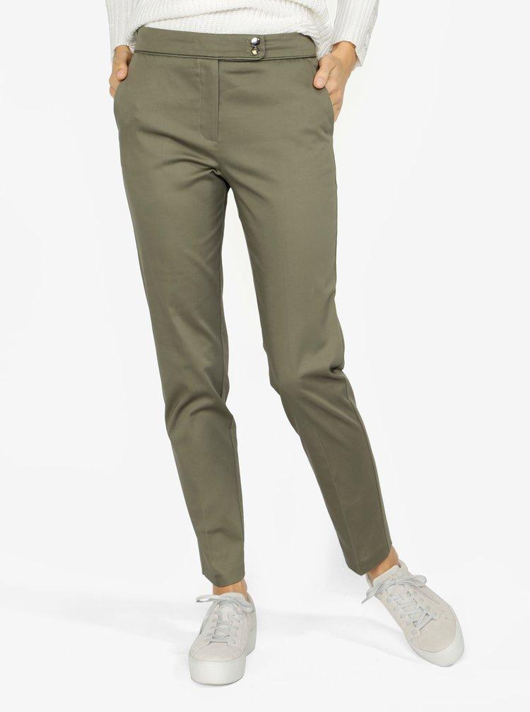 Pantaloni cropped verzi cu talie clasica M&Co