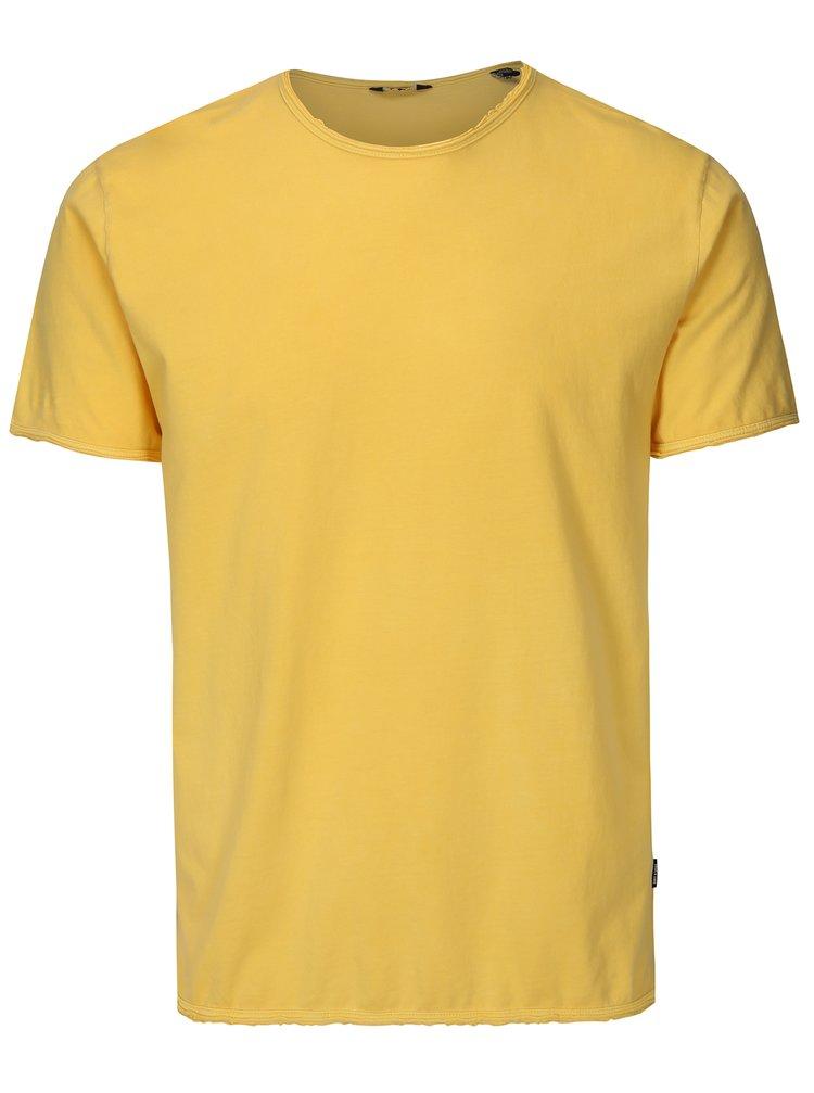 Žluté basic tričko ONLY & SONS Albert