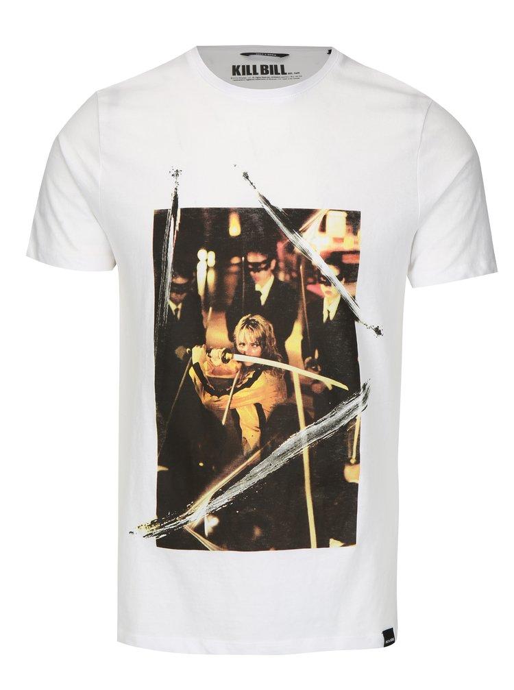 Bílé tričko s potiskem ONLY & SONS Kill Bill