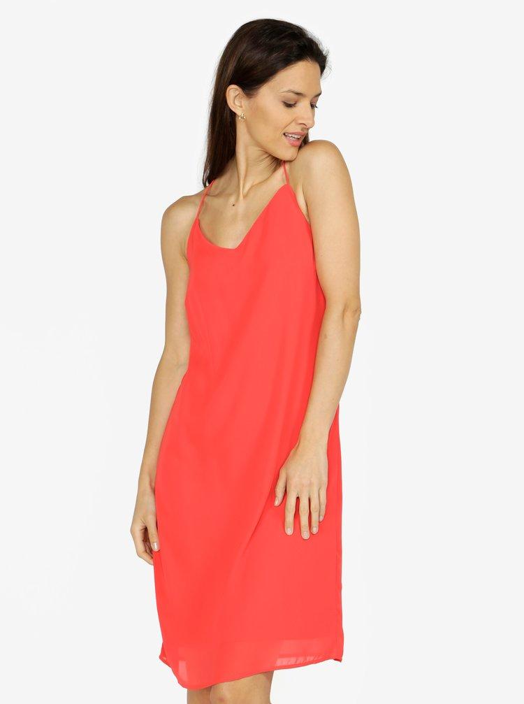 ... Červené šaty na ramienka VERO MODA Diana a11afe472bb