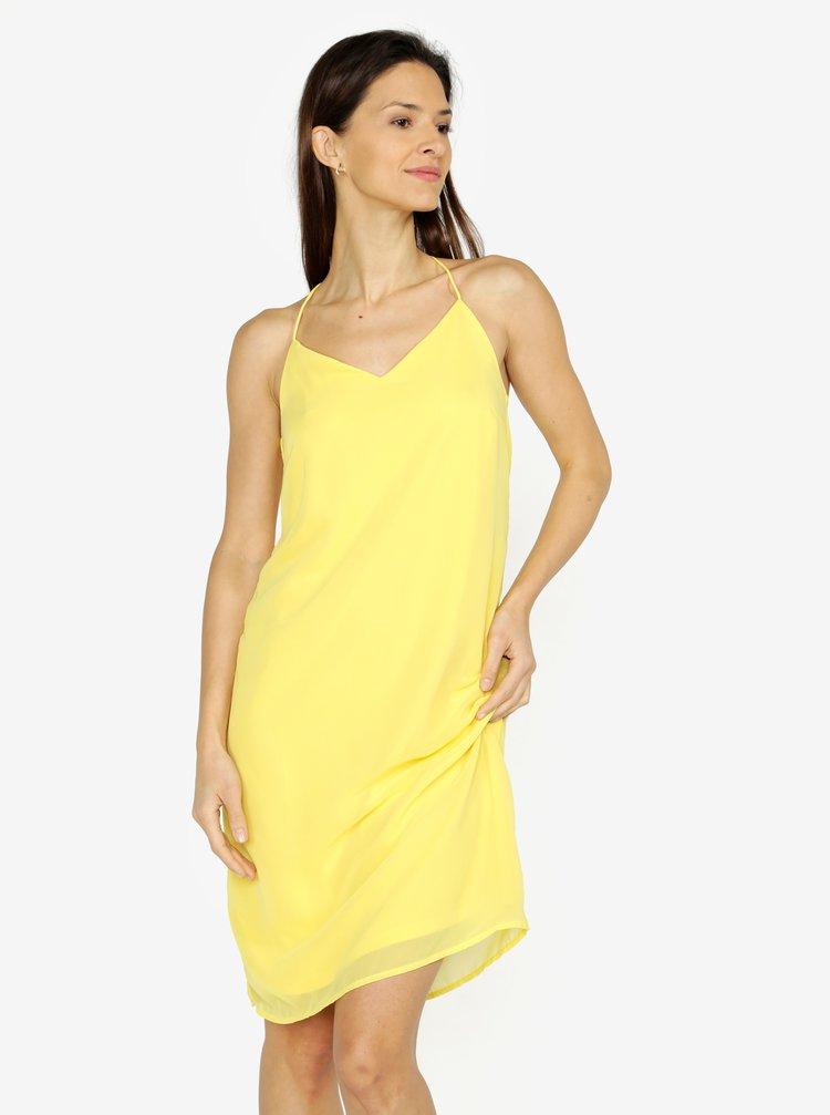 Žluté šaty na ramínka VERO MODA Diana