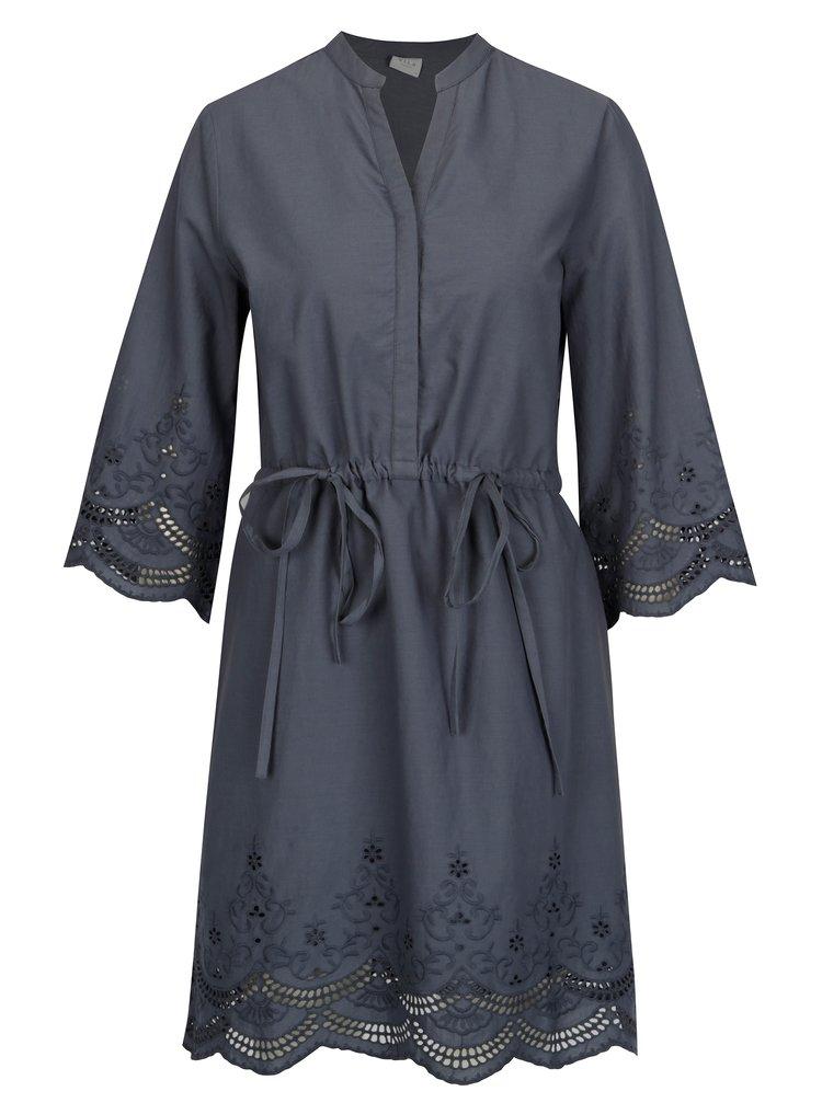 Modré šaty s 3/4 rukávem VILA Brodine