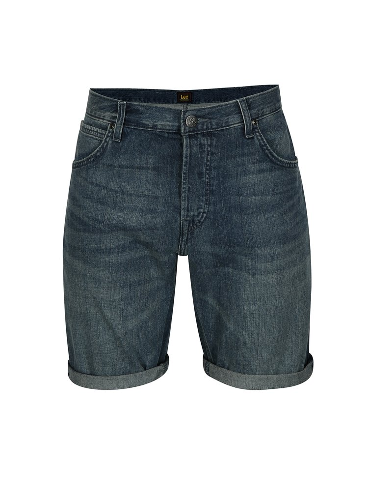 Modré pánské džínové kraťasy Lee
