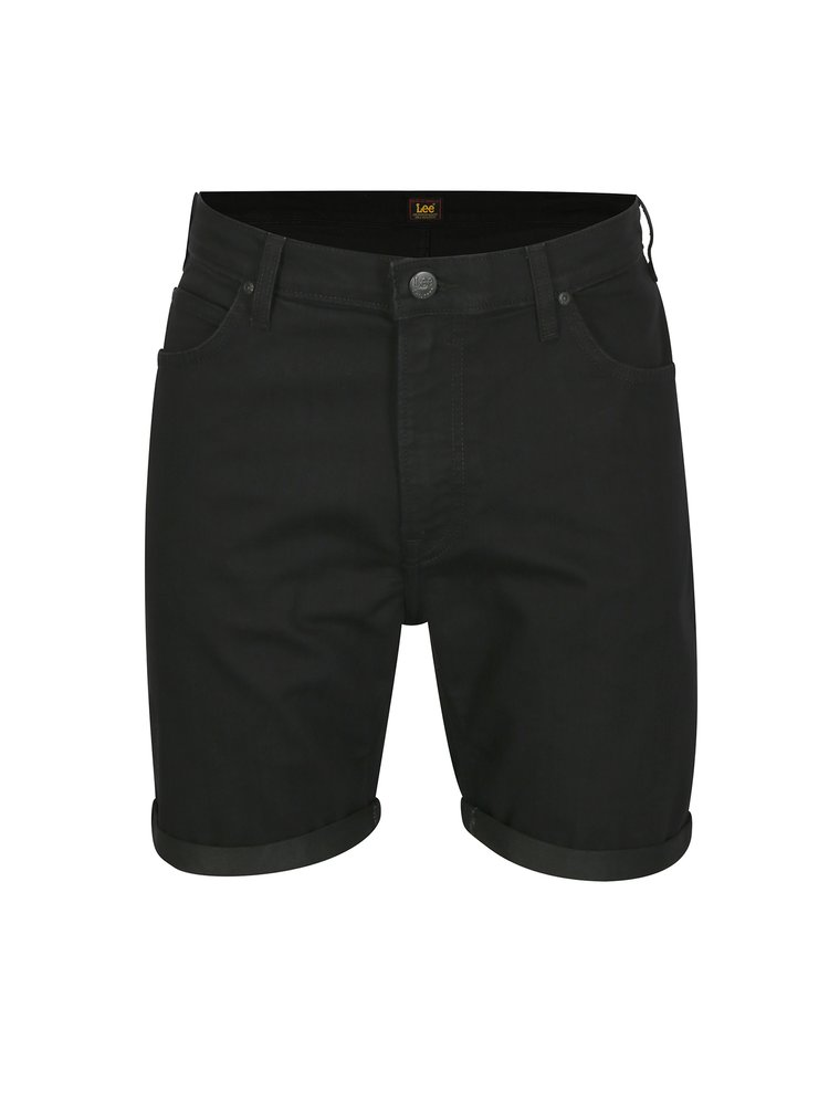 Pantaloni scurti negri din denim pentru barbati - Lee Rider