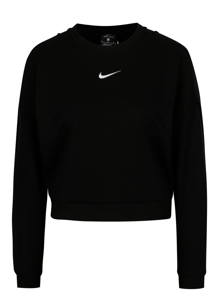 Černá dámská funkční crop mikina Nike CREWNECK CROP