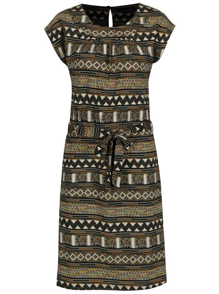 8d6249e533c2 ... Béžové vzorované šaty s páskem Smashed Lemon