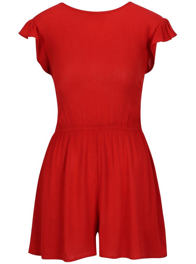 Červený overal se zavazováním na zádech Dorothy Perkins