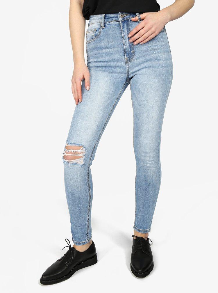 Světle modré slim fit džíny Haily's Evelina