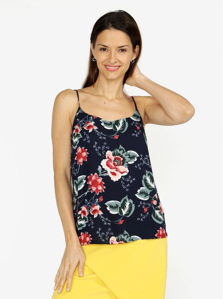Top bleumarin cu print floral VERO MODA Simply