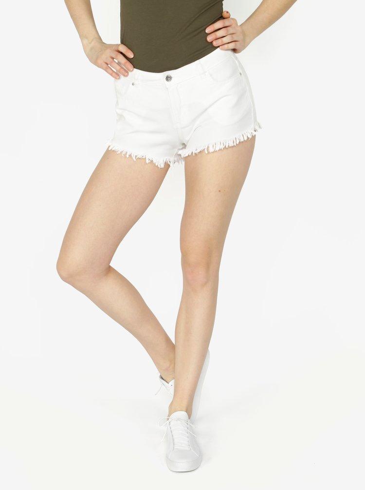 Biele rifľové kraťasy VERO MODA Fiver