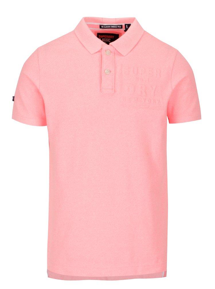 Tricou polo roz neon pentru barbati - Superdry