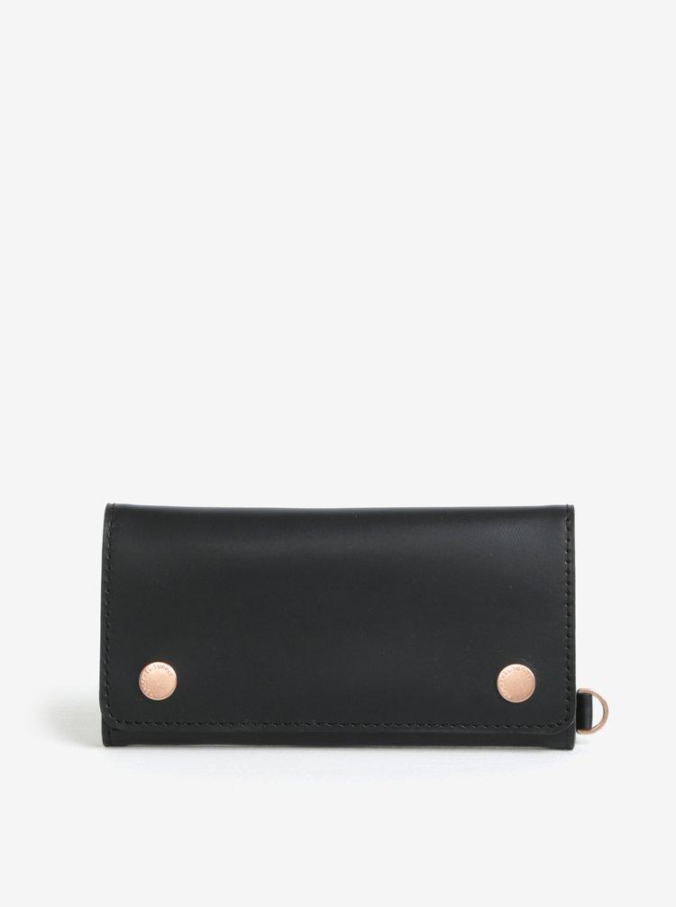 Černá kožená peněženka Herschel Henry