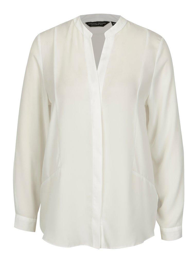Bílá košile se skrytou légou Dorothy Perkins
