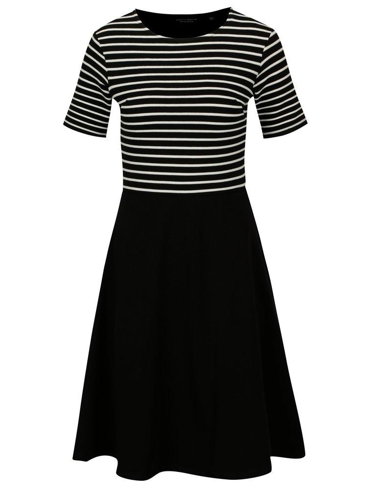 Rochie neagra cu top in dungi - Dorothy Perkins