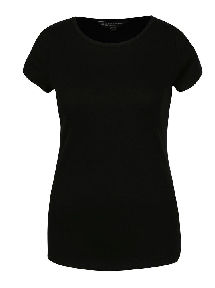 Tricou basic negru din bumbac - Dorothy Perkins