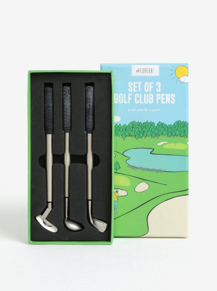 Sada tří propisek ve tvaru golfových holí CGB Golf Club
