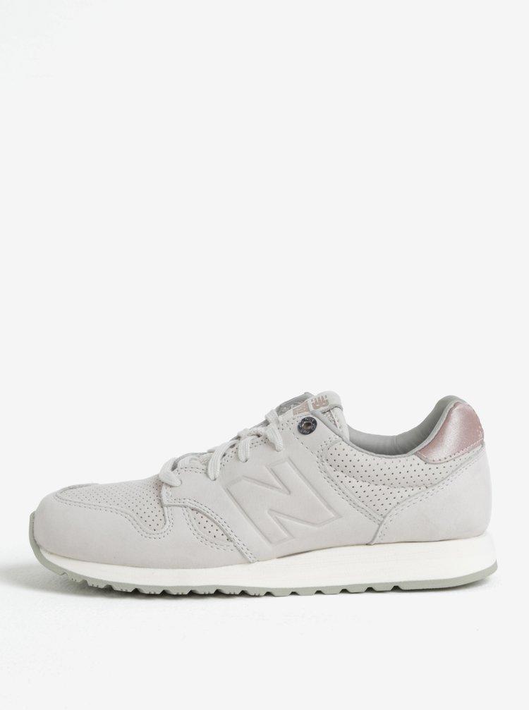 Pantofi sport gri deschis din piele intoarsa pentru femei New Balance 520