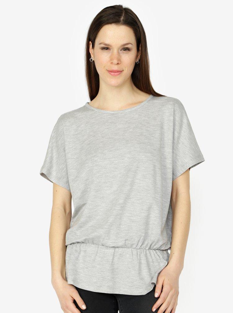 Světle šedé žíhané tričko VERO MODA AWARE Costa
