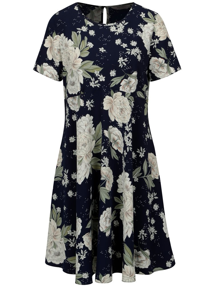 Modro-bílé květované těhotenské šaty Dorothy Perkins Maternity