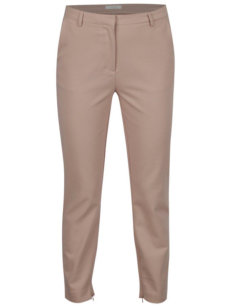 Starorůžové kalhoty VILA Adelia