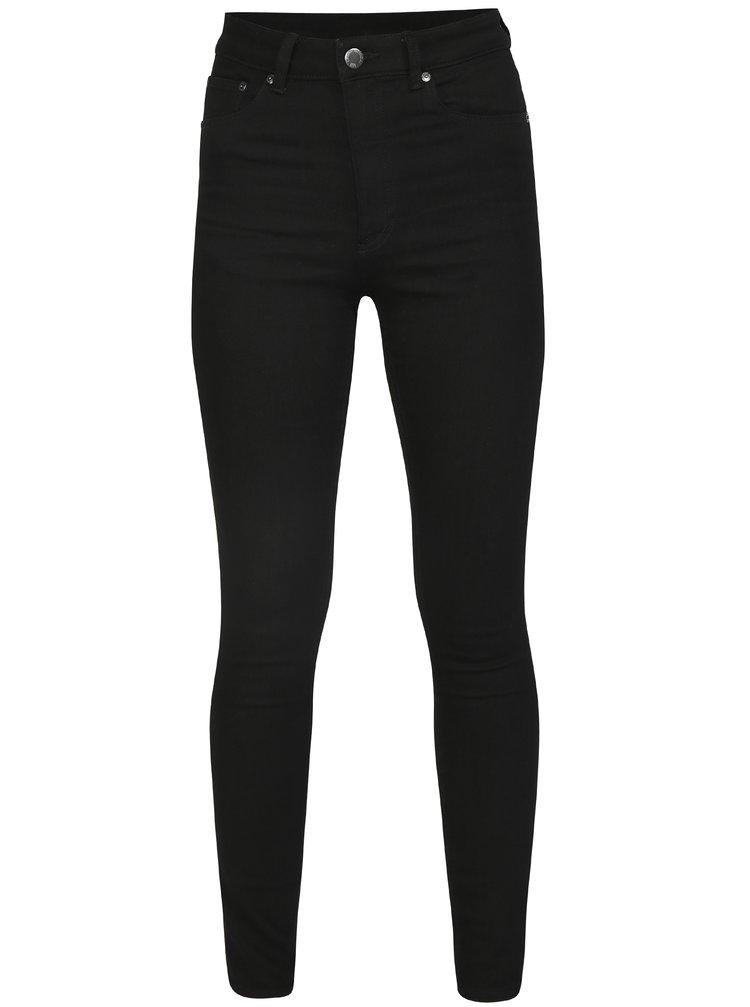 Černé dámské skinny džíny s vysokým pasem Cheap Monday