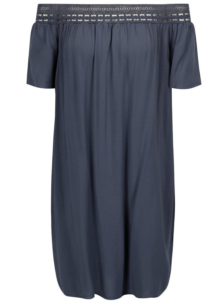 Modré šaty se spadlými rameny Jacqueline de Yong Fame