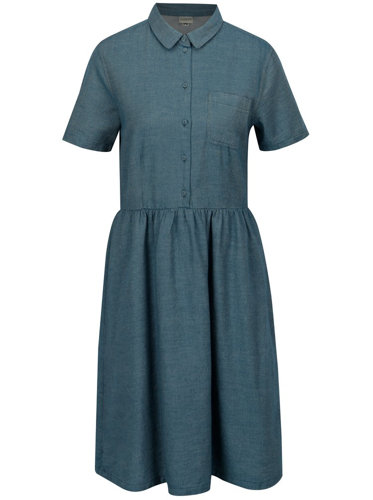 Modré žíhané šaty Selected Femme Taylor