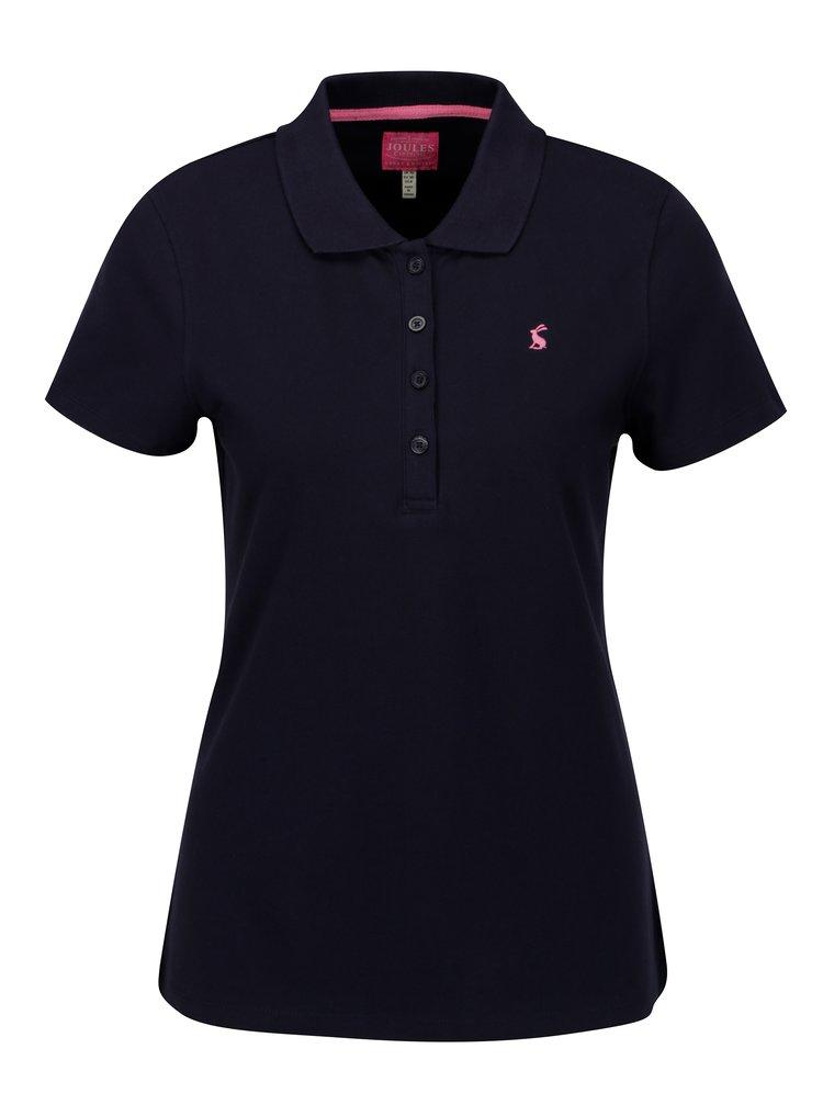 Tricou polo bleumarin cu broderie pentru femei Tom Joule Pippa