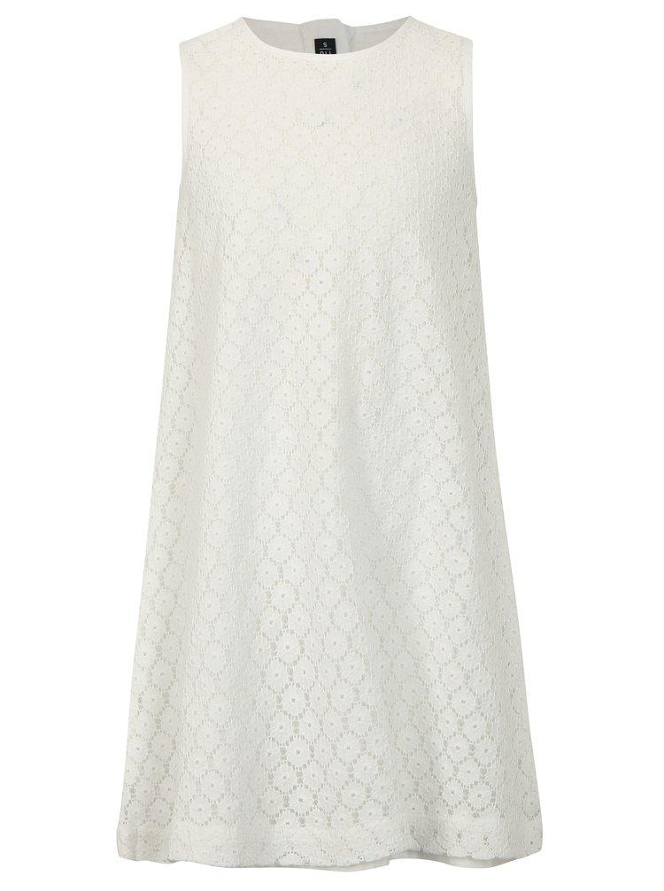 Bílé holčičí krajkové šaty Blue Seven