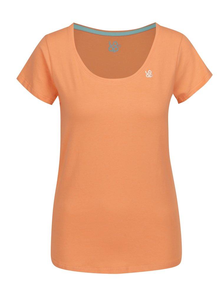 Meruňkové dámské tričko s krátkým rukávem LOAP Blair