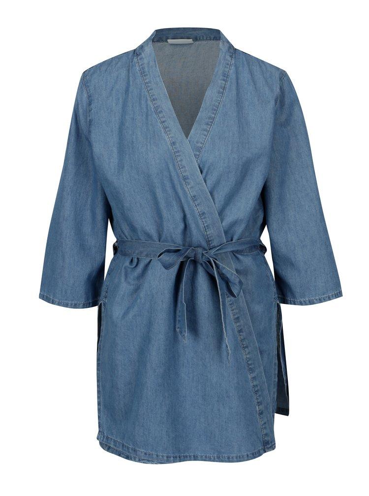 Modré džínové kimono s páskem VILA Liama