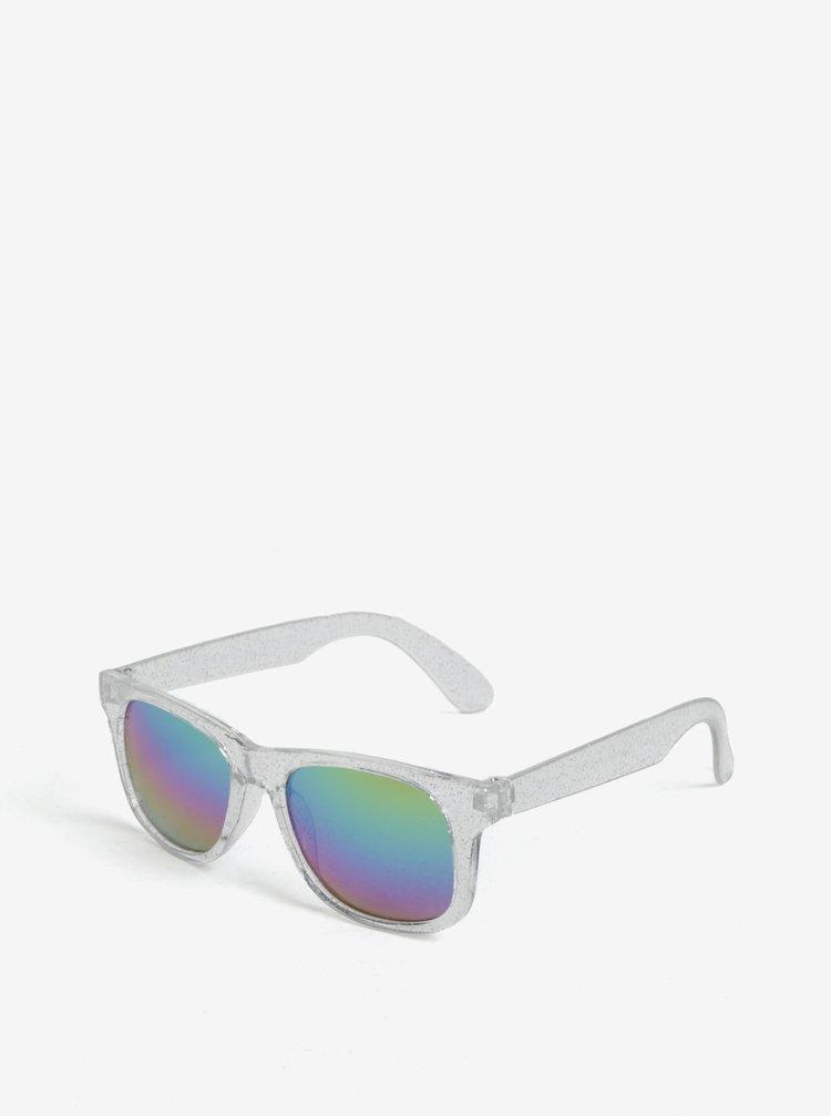 Holčičí sluneční brýle se třpytkami ve stříbrné barvě name it Sun
