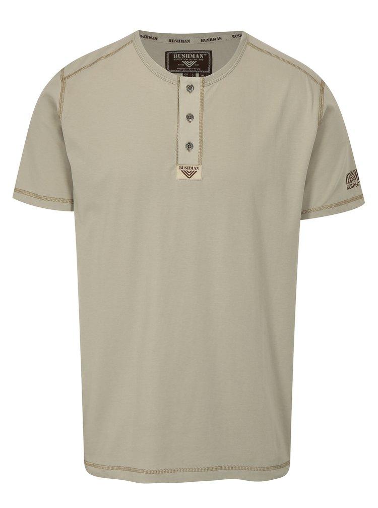 Béžové pánské tričko BUSHMAN Caredo