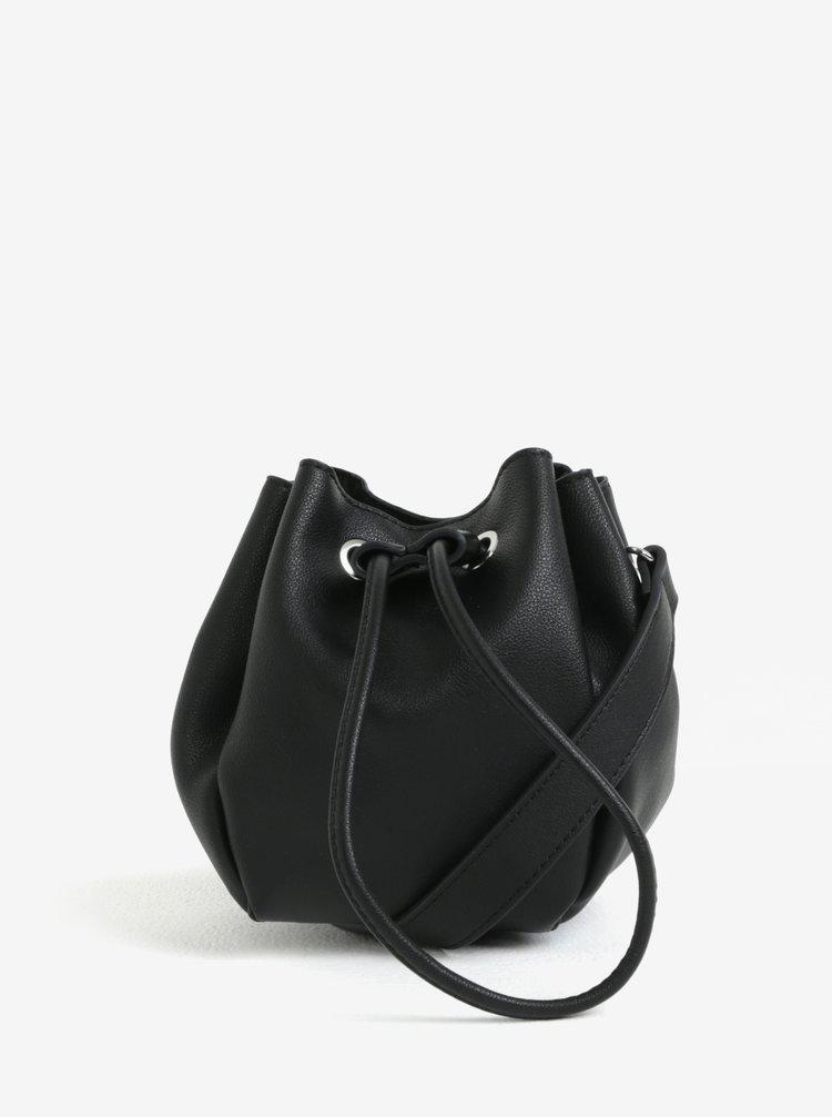 Černá vaková kabelka Pieces Cindy