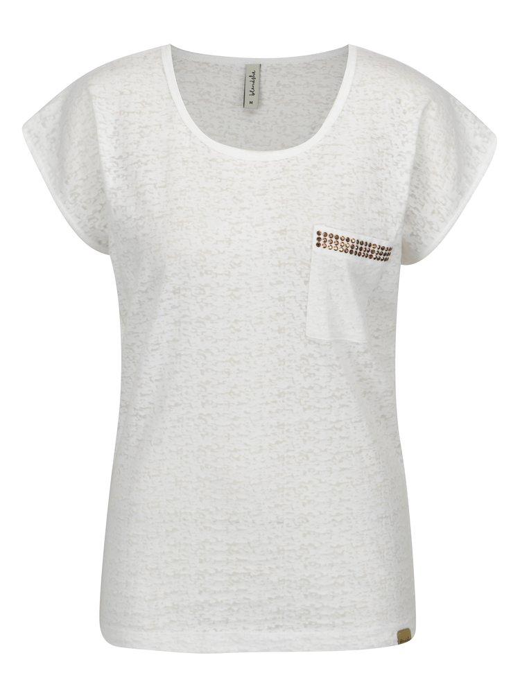 Bílé tričko s náprsní kapsou Blendshe Known