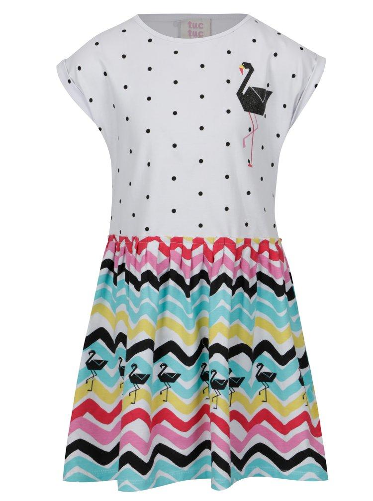 Zeleno-bílé vzorované holčičí šaty tuc tuc Combined Jersey