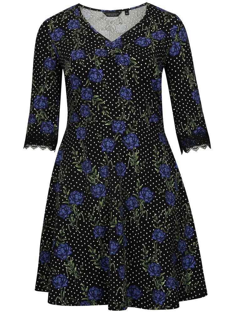 Čierne vzorované šaty Dorothy Perkins Curve