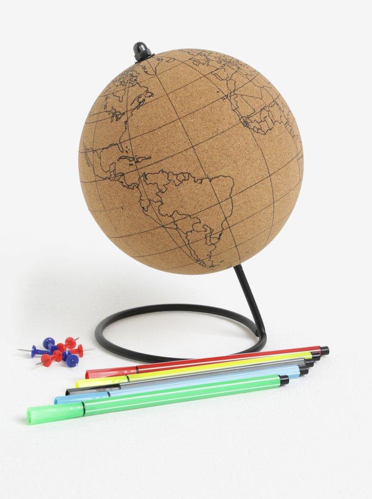 Světle hnědý korkový globus Gift Republic