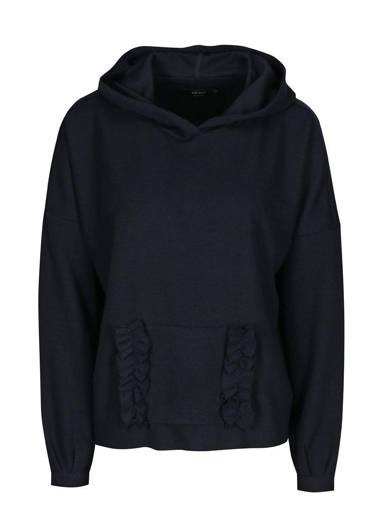 Tmavě modrý svetr s kapucí ONLY Gia