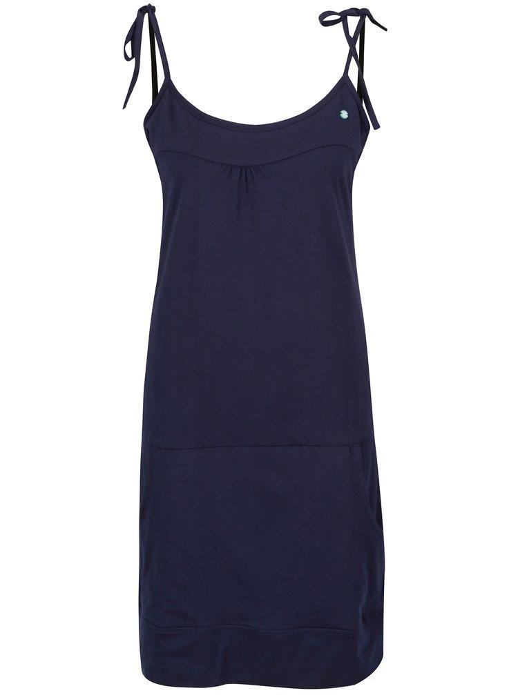 Tmavomodré šaty s vreckami LOAP Alara