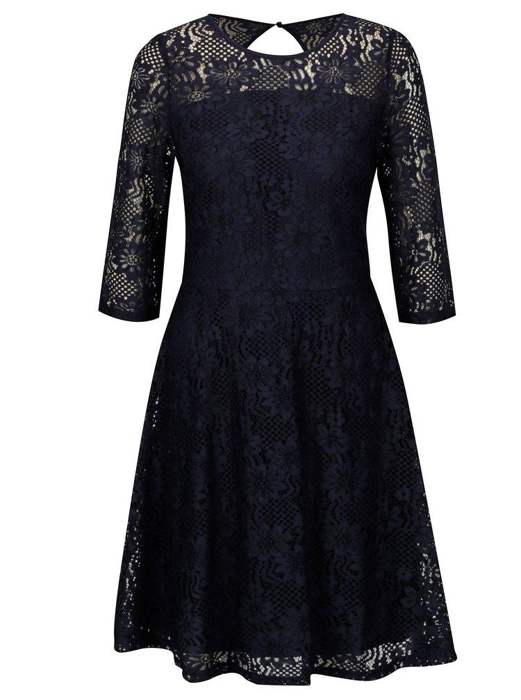 Tmavě modré krajkové šaty s průstřihem na zádech Billie & Blossom