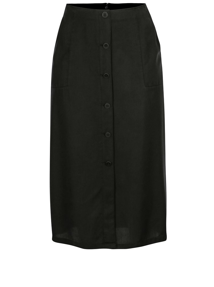 Černá sukně s knoflíky Ulla Popken