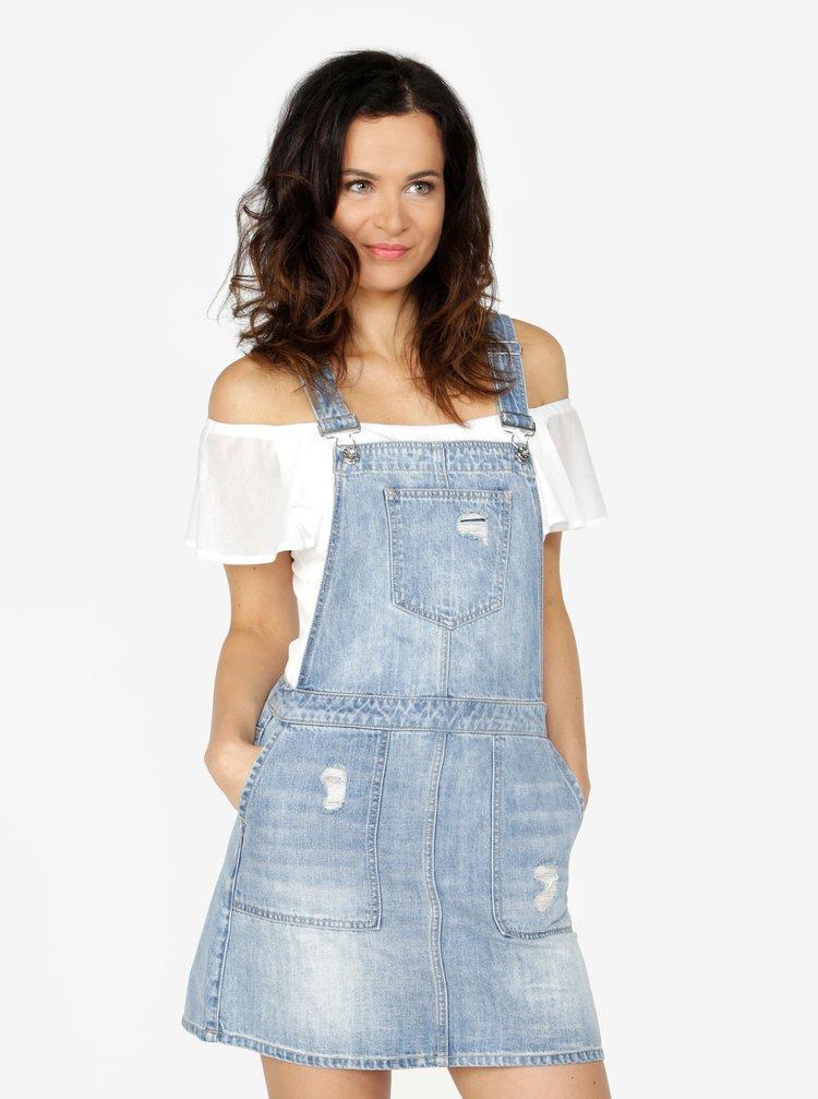 Modré džínové šaty s laclem VERO MODA Mandy