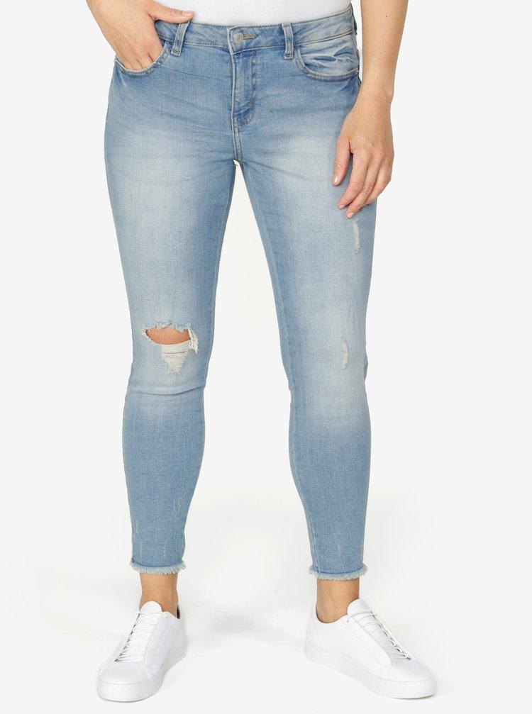 Světle modré zkrácené skinny džíny Jacqueline de Yong