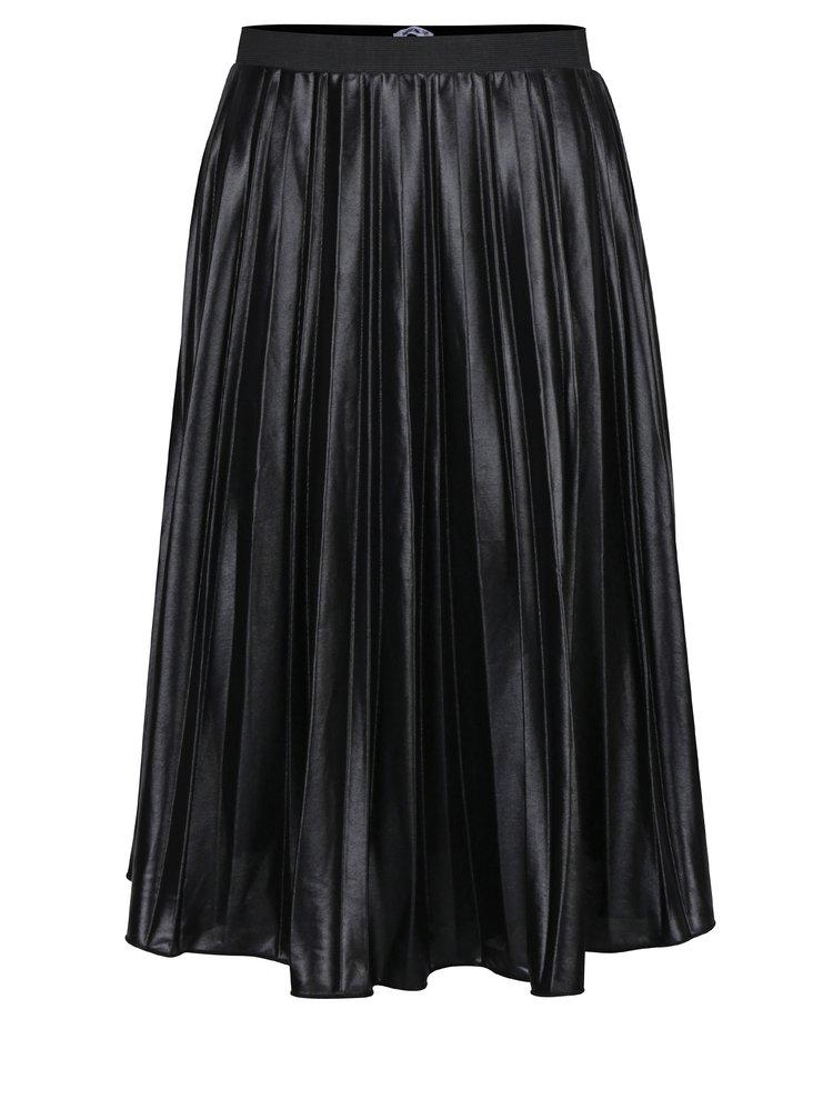 Fusta plisata neagra cu aspect lucios Haily´s Vio