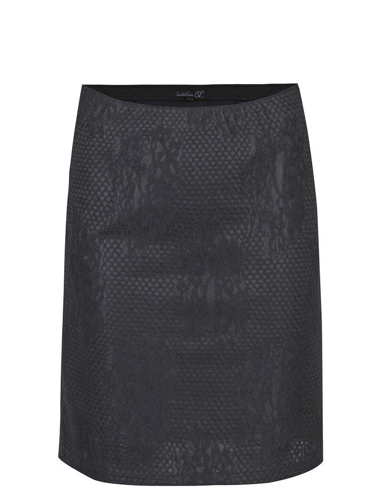 Čierna čipkovaná sukňa Smashed Lemon