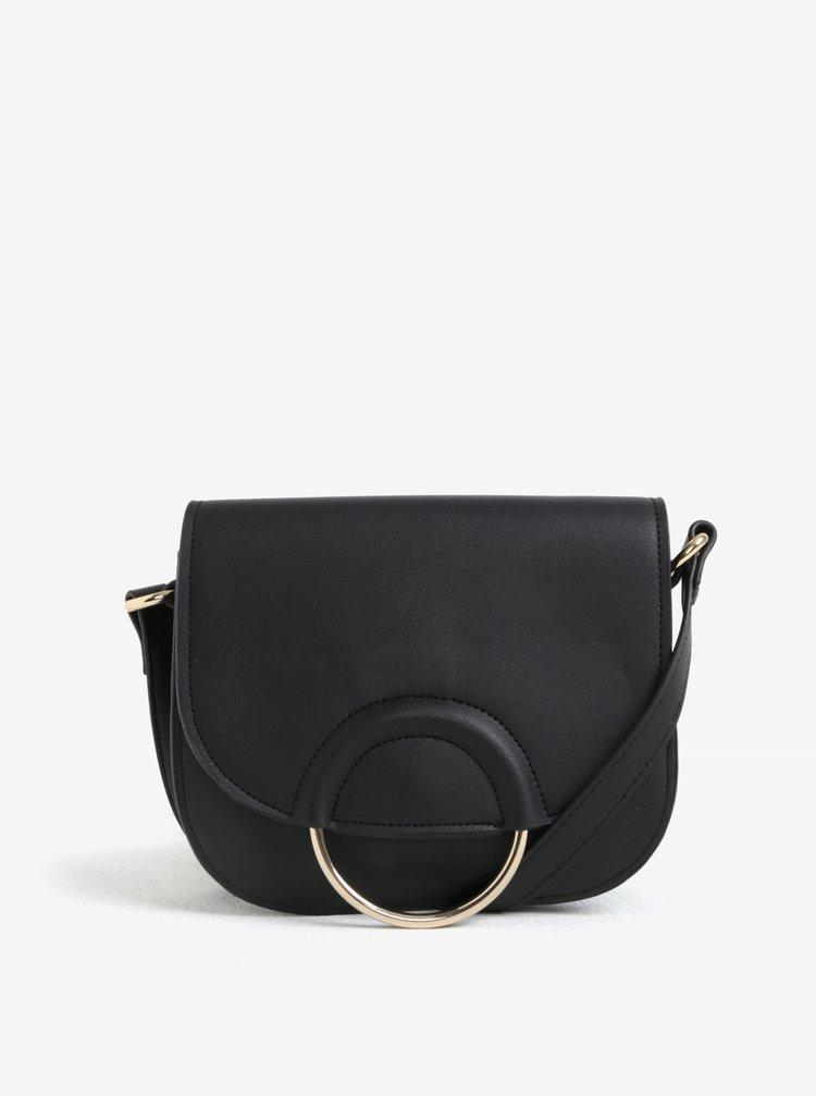 Černá koženková kabelka Pieces Gemma